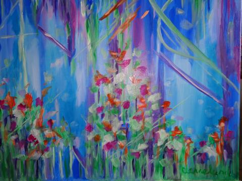 An abstract version og my Summer painting