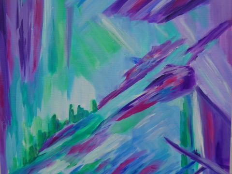 purple absract